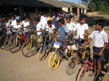 Kids with the cycles