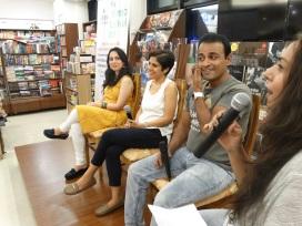 Speakers Monica, Vinita, Siddharth, and TBP India co-founder Simona Terron (l-r)
